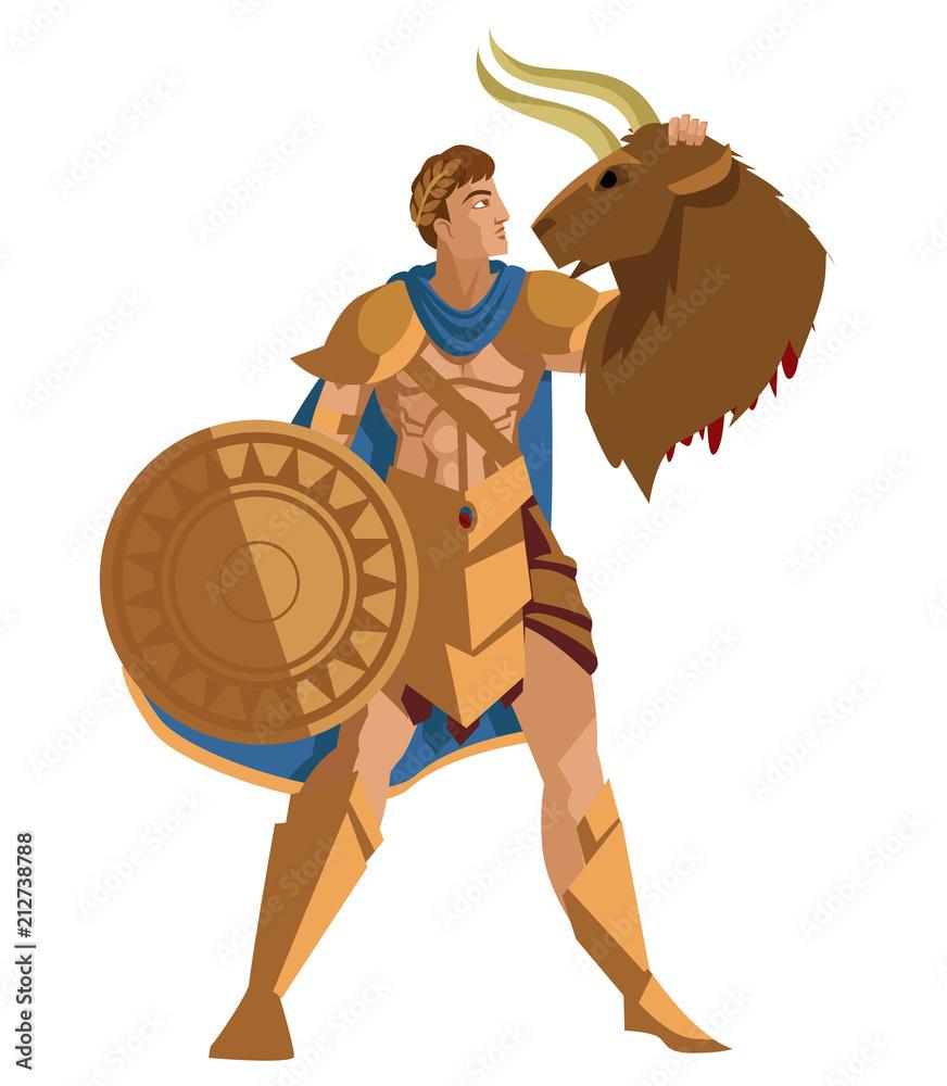 Tezeusza z Minotaurowi głowę