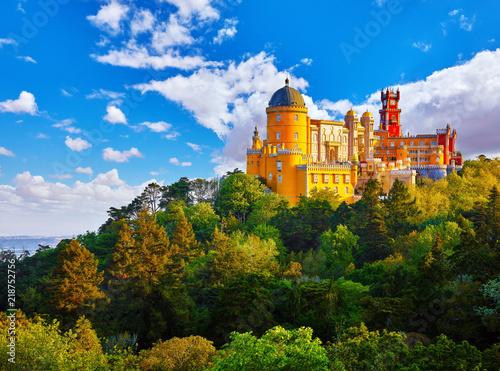 Pałac Pena w Sintra. Lizbona, Portugalia. Atrakcją.