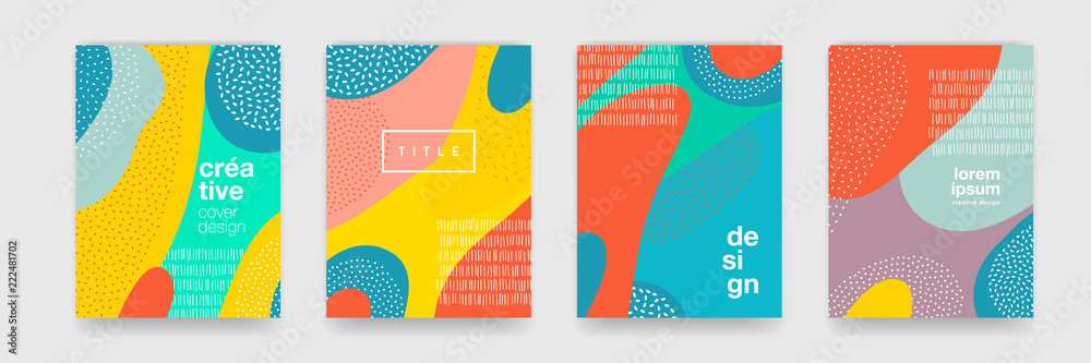 Streszczenie zabawny rysunek kolorowy kreskówka tekstury dla Doodle tło. Ilustracja kształt trendu dla broszura pokrycie Szablon