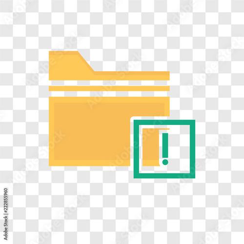 Wektor ikona na białym tle na przezroczystym tle, foldery, projektowanie logo