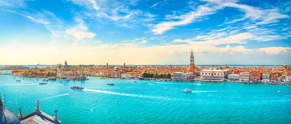 Wenecja Grand Canal z lotu ptaka. Włochy