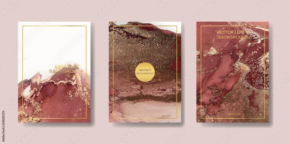płynny marmur ze złotem. ulotki, wizytówki, ulotki, broszury, plakaty, do druku. wektor trendu