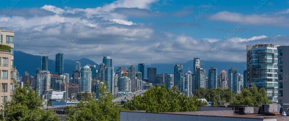 Vancouver Skyline Patrząc Na Północ