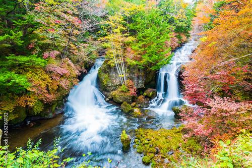 Ryuzu spada w sezonie jesiennym w Nikko, Japonia.