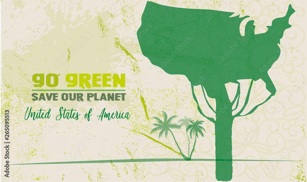 zielony uratować naszą planetę