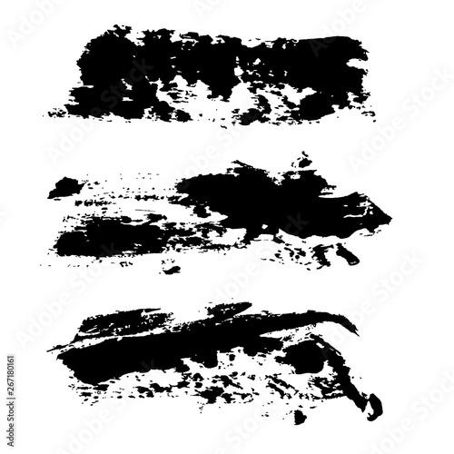 Tusz ilustracji rozmazuje tło. Ilustracji wektorowych. Tekstury grunge.