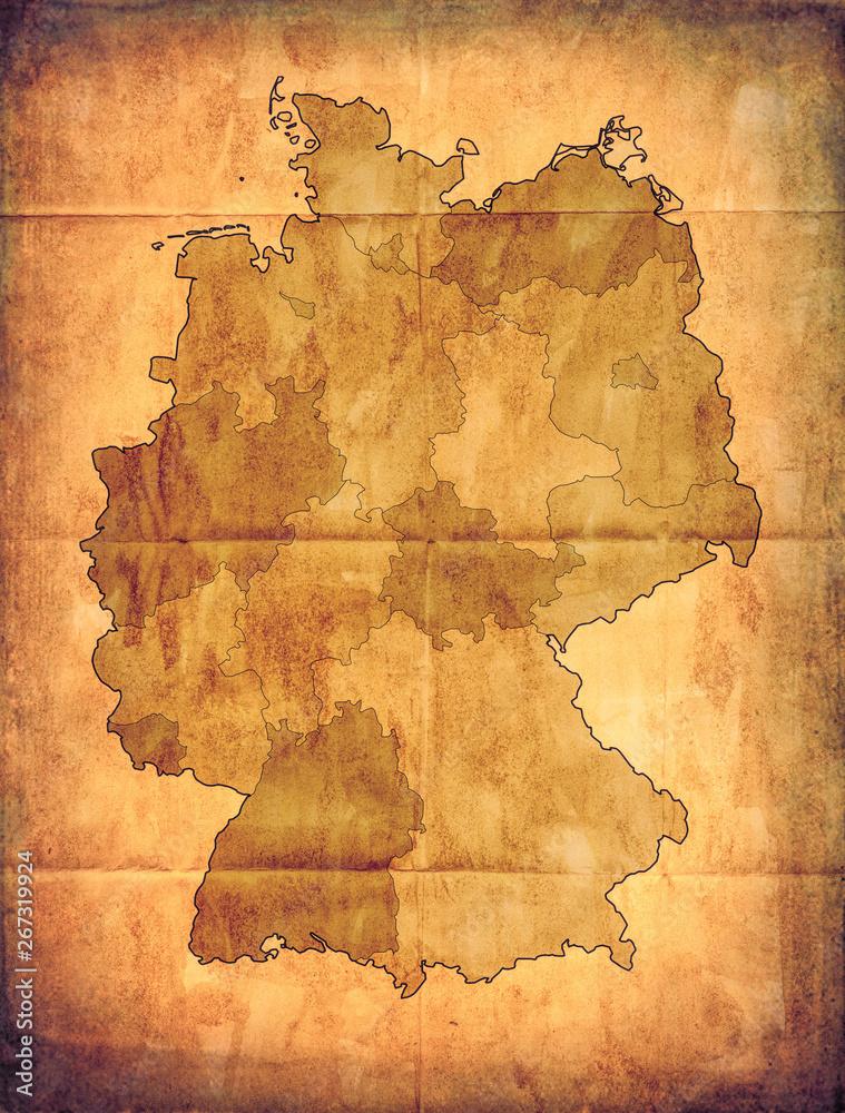 Starej mapie Niemiec