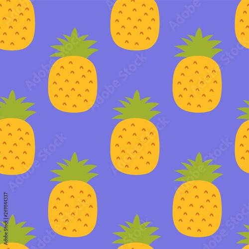Wzór ananasa. Ręcznie malowane świeży ananas. Wektor wzór tła. Kolor zbiory tapety. Egzotyczne owoce tropikalne. Projektowanie mody. Jedzenie wydrukować do kuchni obrus, zasłony lub ręcznik