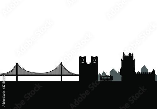 krajobraz Lizbona miasto w Portugalii