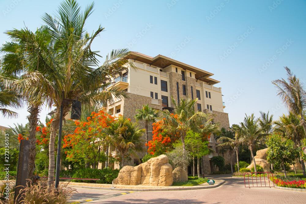 Dubai, zjednoczone emiraty ARABSKIE, Zjednoczone Emiraty Arabskie. Budynek mieszkalny w hotelu Sofitel w mieście Palm Jumeirah