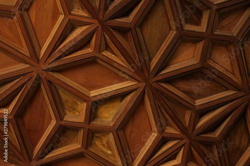 Wzory drewnianego sufitu