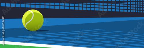 Ilustracja wektora piłki tenisowe na korcie z cieni i odblasków