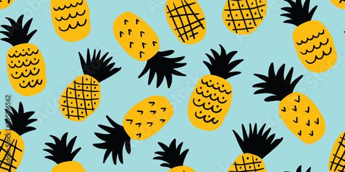 Kolorowe minimalistyczny wzór ananasy