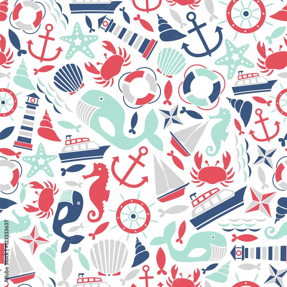 wzór z ikony morskich