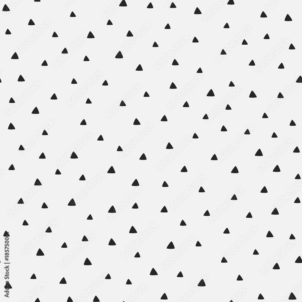 Powtarzanie trójkąty narysowane odręcznie. Geometryczny wzór.