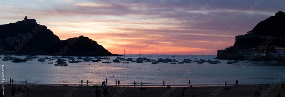 Plaża La Concha w San Sebastian