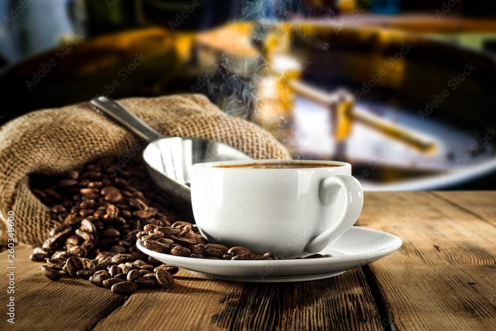 Świeże gorącej kawy