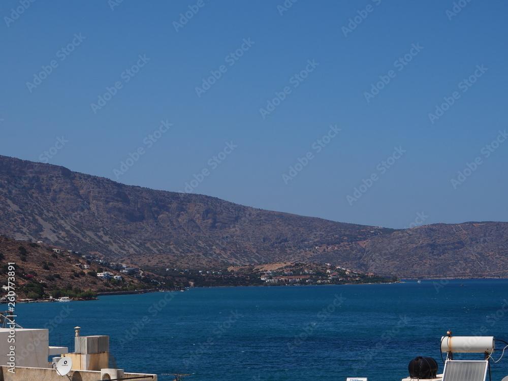 Kreta; panorama na zatokę Элунды