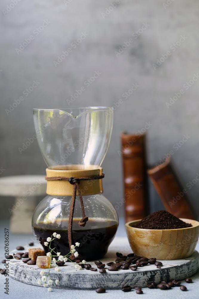 martwa natura kawy w kemex