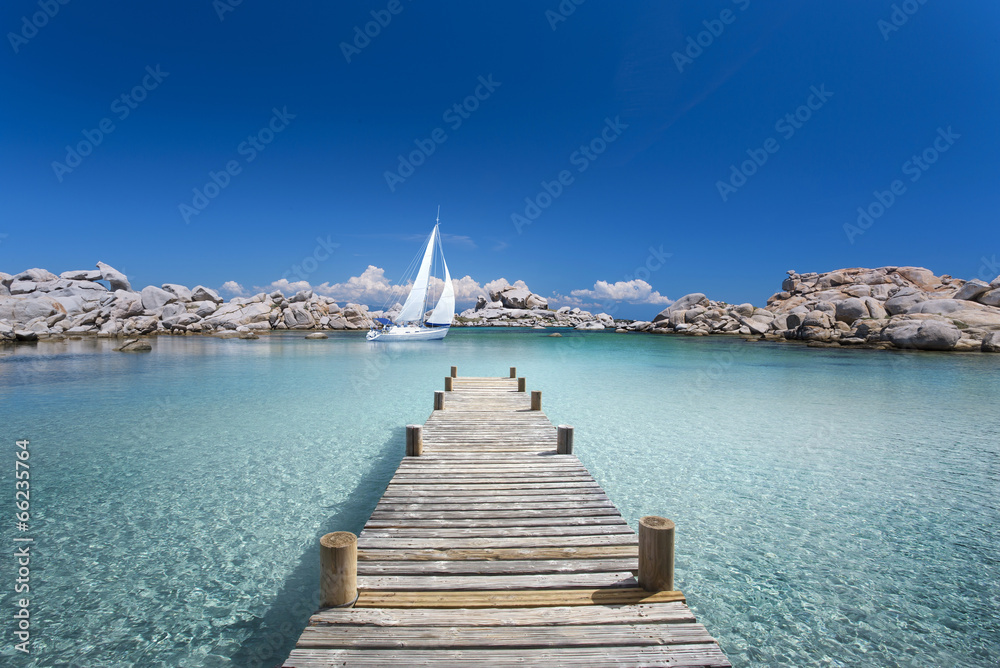Drewniane ścieżki na mojej Morze