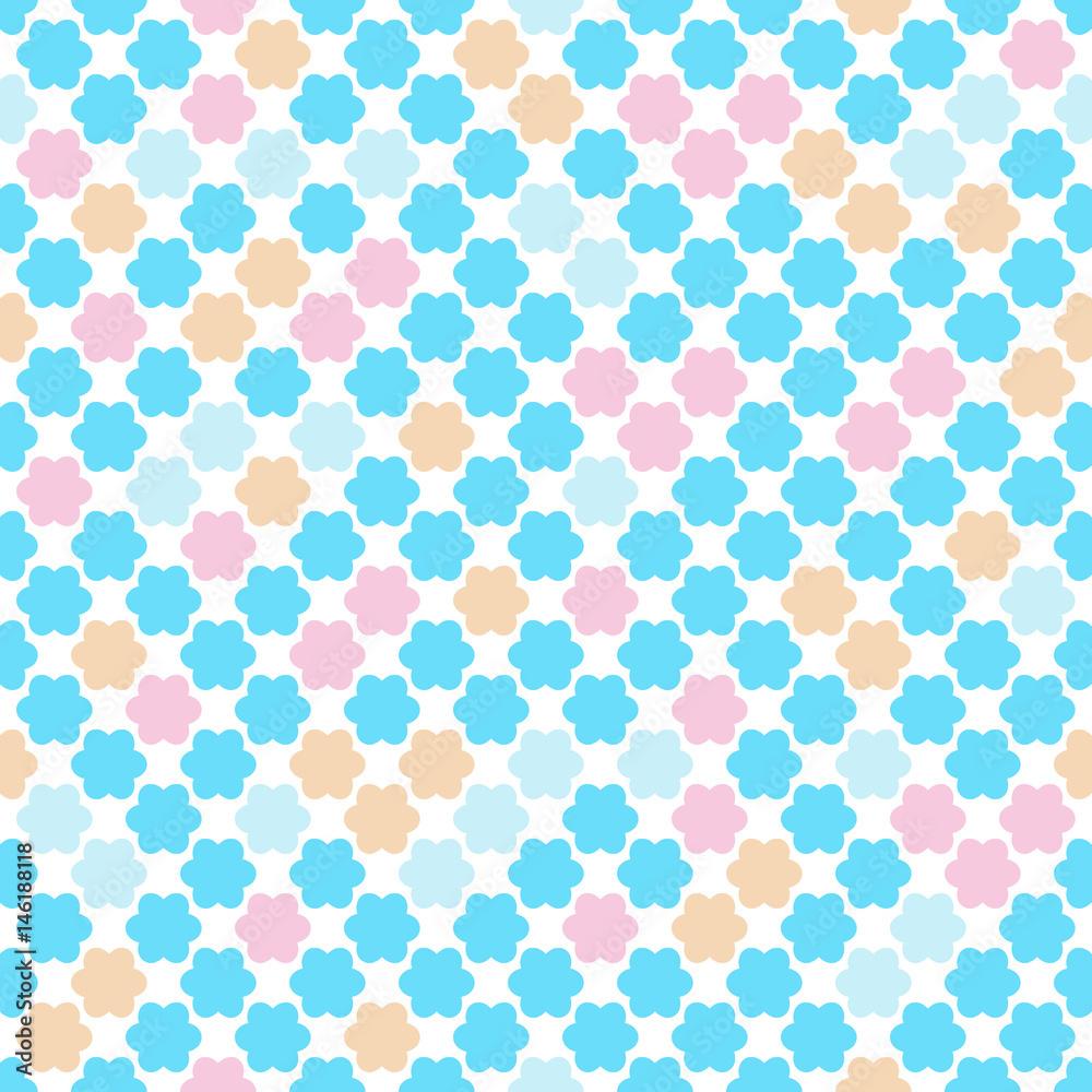 Wzór dla dzieci w pastelowych kolorach