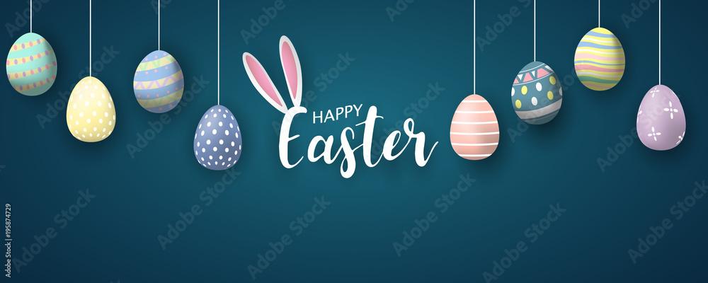 Szczęśliwy tło Wielkanoc. Ilustracji wektorowych.