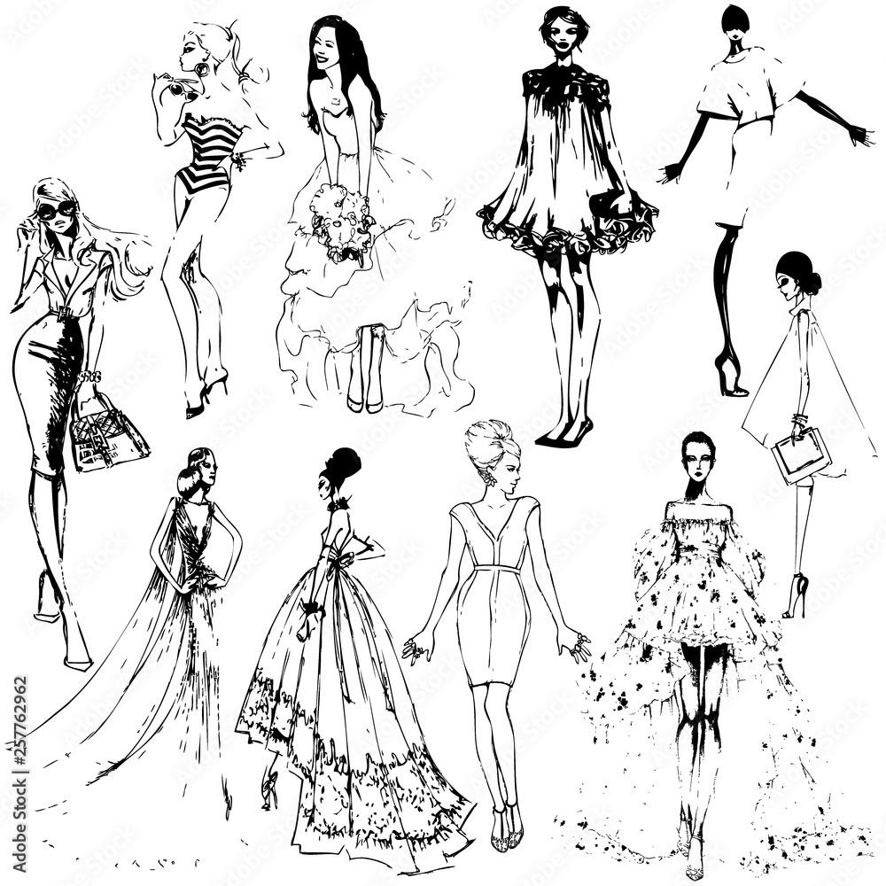 Moda dziewcząt. miniaturę szablonu