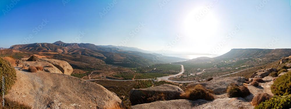 Krajobraz, Panorama, Kreta, Grecja