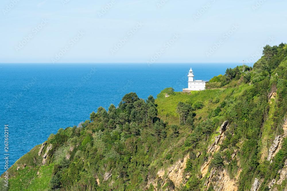 Latarnia morska Monte Igueldo San Sebastian, San Sebastian. Basków w Hiszpanii.