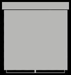 Wieszak metalowy do mini rolet krótki (biały)