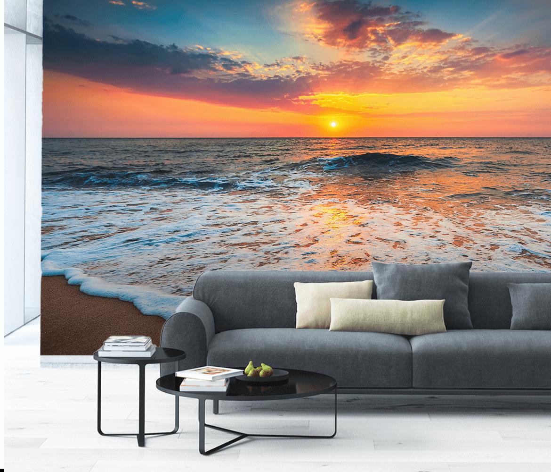 Fototapeta plaża, morze, wschód słońca - do salonu, sypialni
