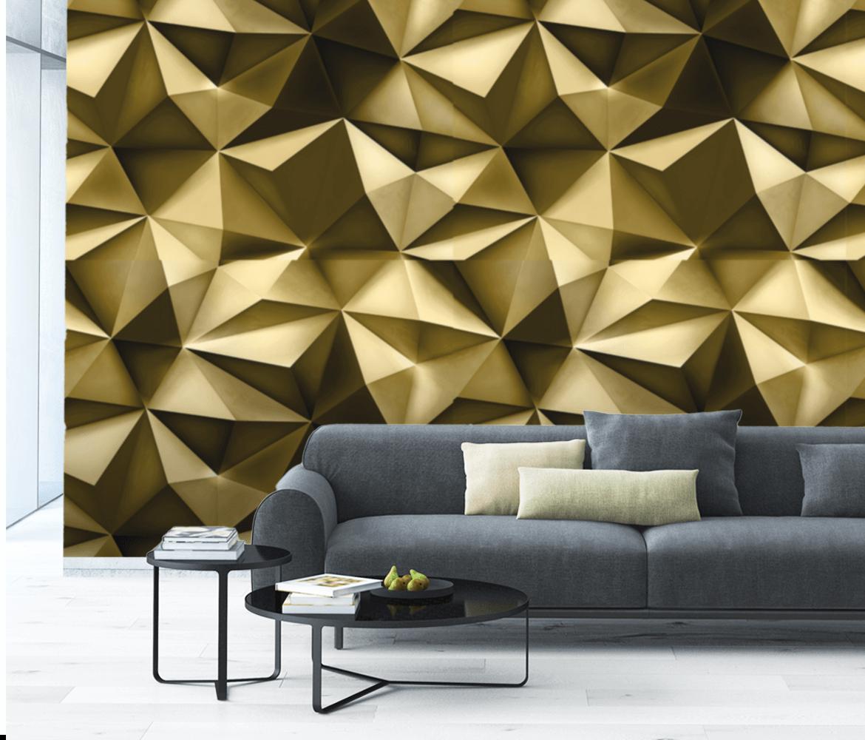 Fototapeta glamour 3D, trójwymiarowa tapeta do salonu