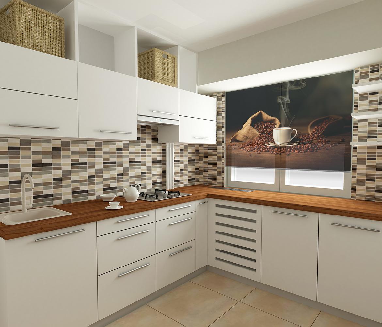 Dekoracja okienna do kuchni nadruk Kawa. Fotorolety kuchenne