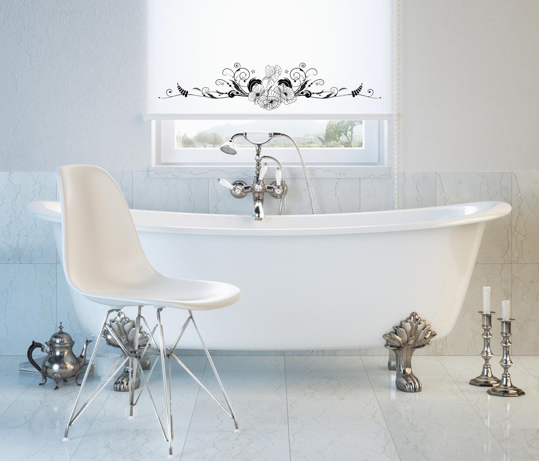 Elegancka roleta łazienkowa, delikatny ornament