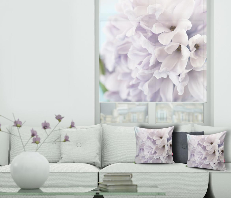 Fotoroleta i fotopoduszki z kwiatem hiacyntu