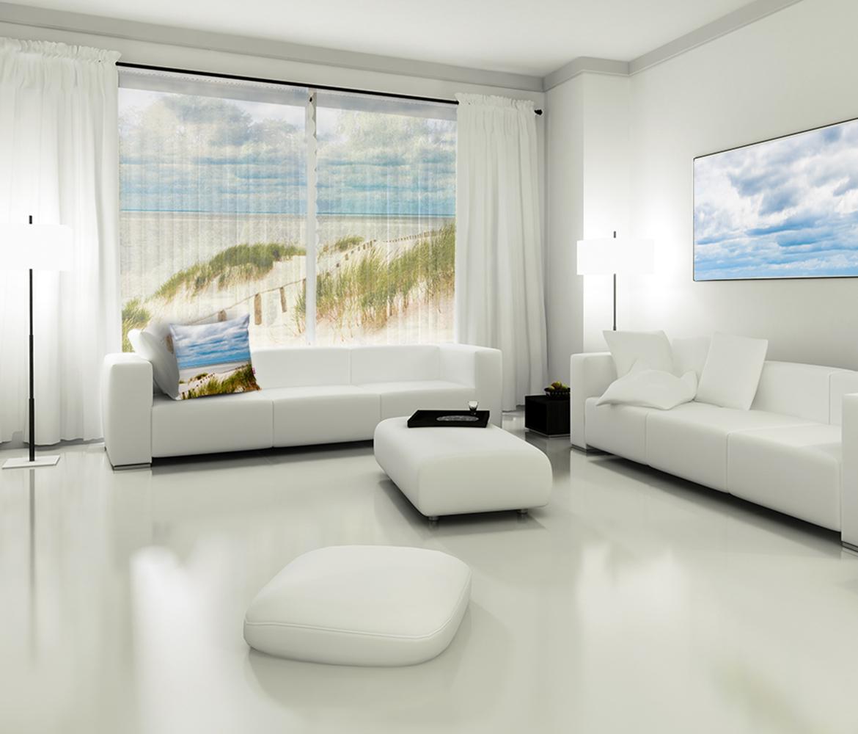 Fotoroleta z krajobrazem morza. Foto poduszka i obraz